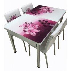 Комплект разтегателна маса с 4 стола Bergama II