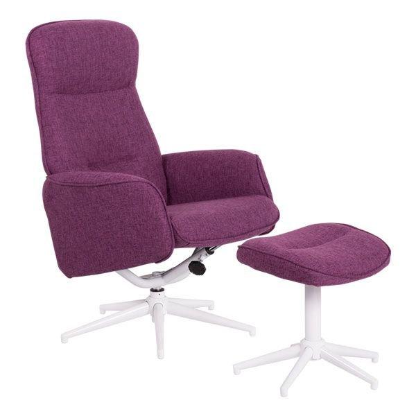 Офис кресло с табуретка Una