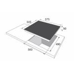Стъклокерамичен плот BHCI 65123030