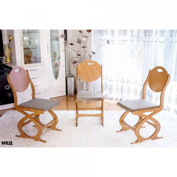 Трапезен стол Сърце - мед