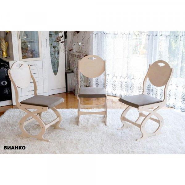 Трапезен стол Сърце - бианко
