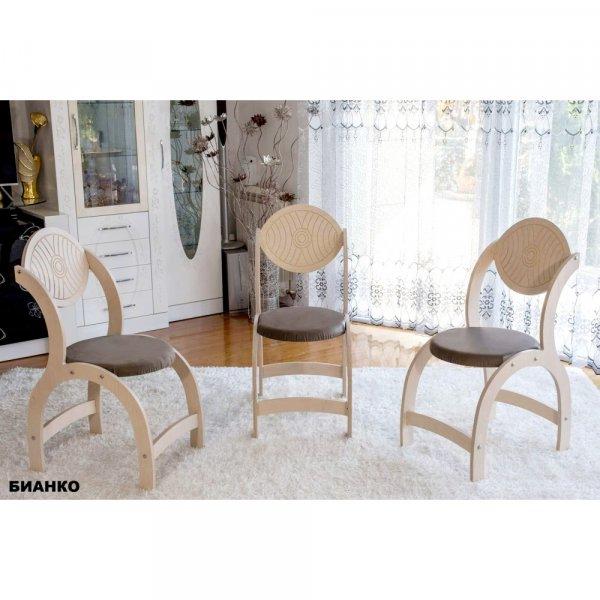Трапезен стол Полукръг - бианко