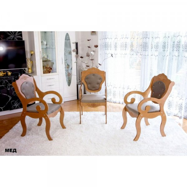 Трапезен стол Барок3 - мед