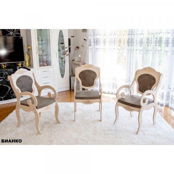 Трапезен стол Барок3 - бианко