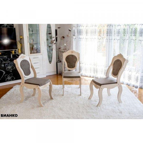 Трапезен стол Барок4 - бианко