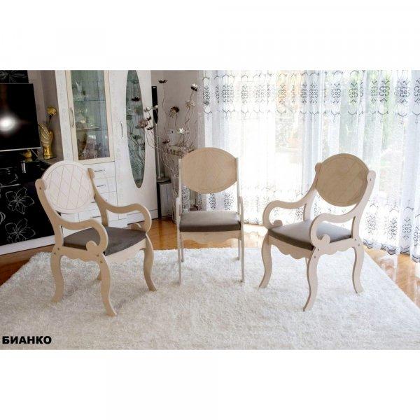 Трапезен стол Барок1 - бианко